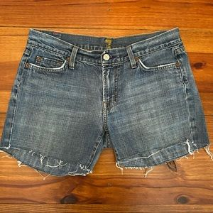 "7 For All Mankind Jean Shorts Sz 30 ""Cutoffs"""